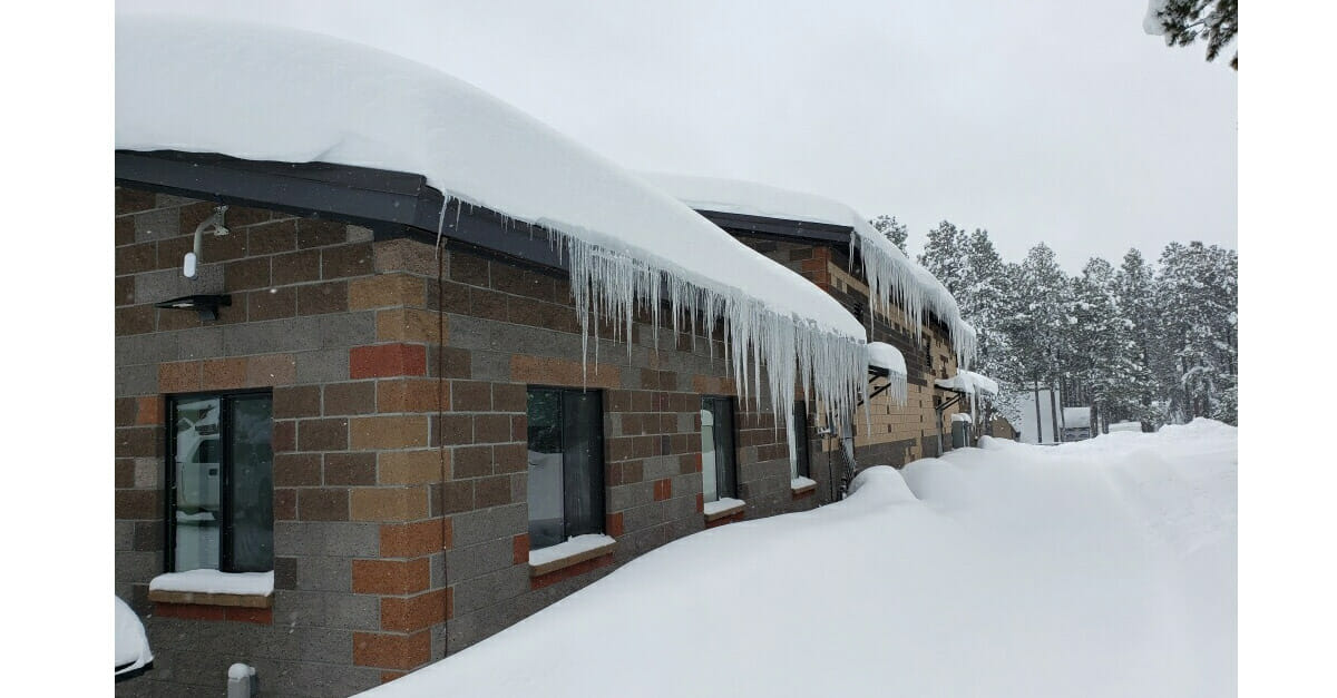 Snow is no Problem for Forest Lakes Fire Station